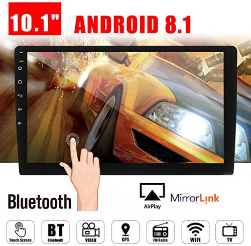 "10. 1"" Android 8.1 Car GPS Double 2Din Quad-Core 16GB Touch Screen"