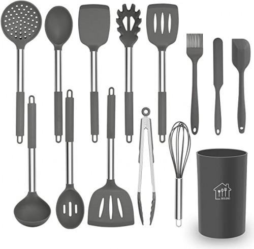 18. Silicone AILUKI Cooking Utensil Set