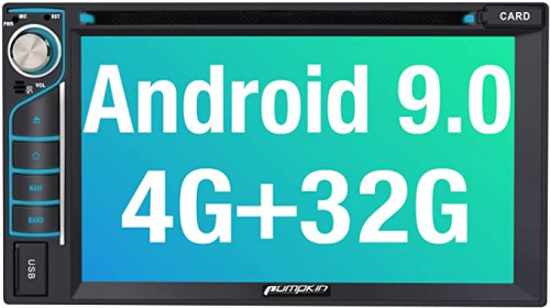 9. PUMPKIN Android 9.0 Double Din Car Stereo