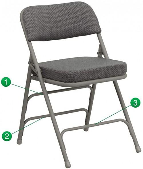 10. Flash Furniture 2 Pk. HERCULES Series Folding Chair