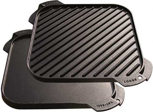 5. Lodge LSRG3 Cast Iron Single-Burner Reversible Grill