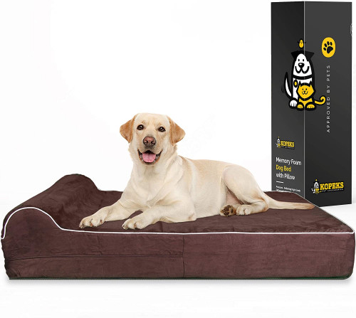 6. 7-inch Thick High-Grade Orthopedic Memory Foam Dog Bed