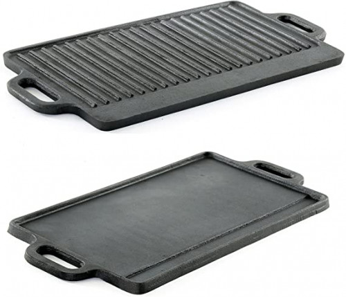 6. ProSource Professional Heavy Duty Reversible Double Burner Cast Iron Grill Griddle