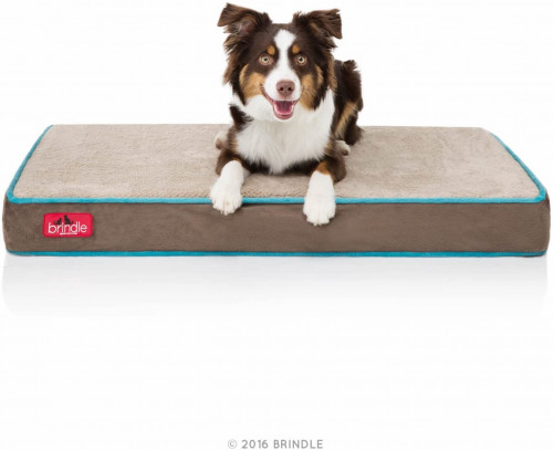 9. Brindle Waterproof Designer Memory Foam Pet Bed
