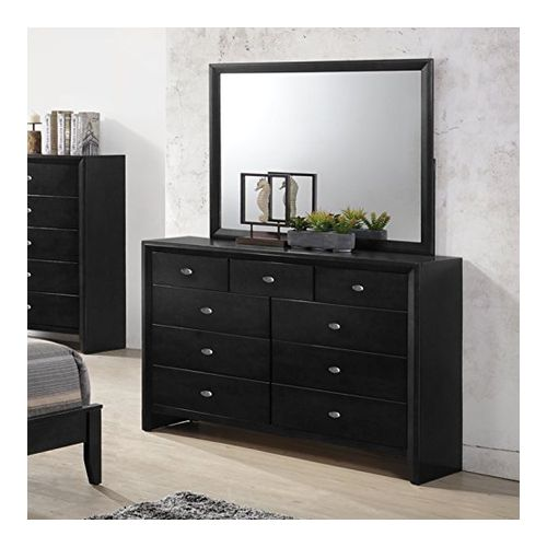 Roundhill Furniture Dresser with Mirror