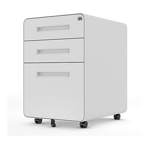 Merax 3 Drawer File Cabinet with Locks and Keys